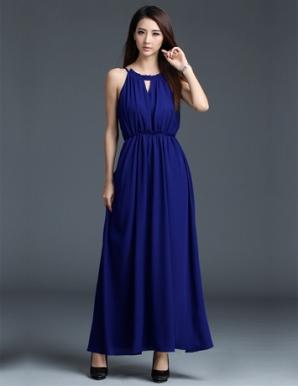Đầm maxi cổ yếm xinh xắn - A9145