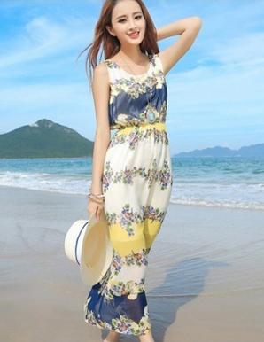 Đầm maxi hoa vàng - A9361