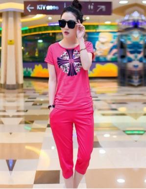Bộ đồ nữ màu hồng thời trang - A9967