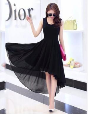 Đầm dự tiệc mullet màu đen - A9983