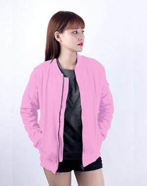 Áo khoác nữ bommer màu hồng - B0161