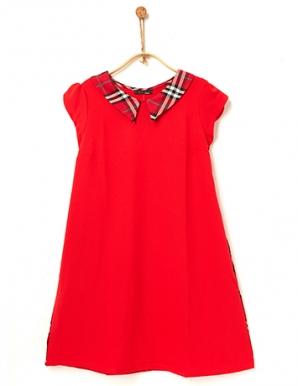 Đầm bầu phối sọc trẻ trung màu đỏ - B0273