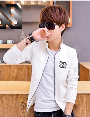 Áo khoác dù phối logo SS màu trắng - B1499