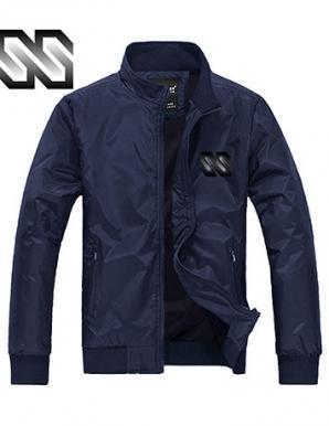 Áo khoác dù phối logo SS xanh đen - B1501