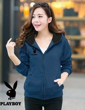 Áo khoác nữ PLAYBOY xanh cô ban - B1614