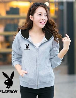 Áo khoác nữ PLAYBOY màu xám - B1617