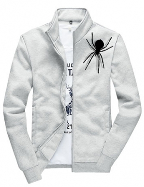 Áo khoác nam SPIDER cổ đứng màu xám - B1621