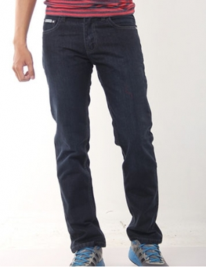 Quần jean nam suông trơn màu đen - B1945