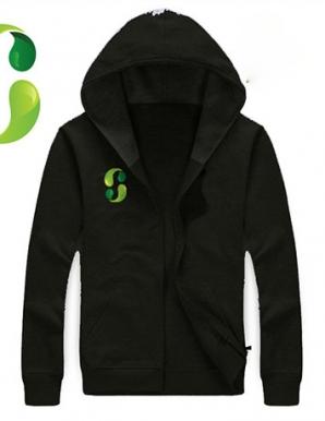 Áo khoác nỉ phối logo màu đen - B2279
