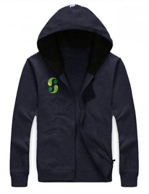 Áo khoác nỉ phối logo màu xanh đen - B2280