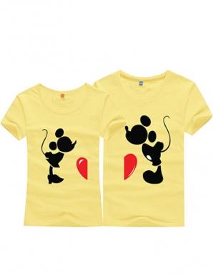 Áo thun cặp mickey màu vàng - B2534