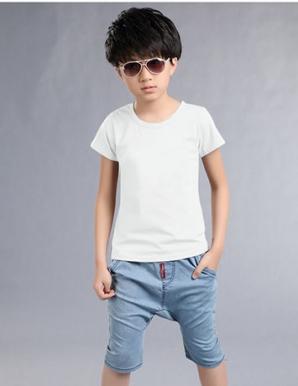 Áo thun BÉ trơn màu trắng - B2653