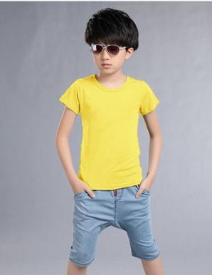 Áo thun BÉ trơn màu vàng - B2657