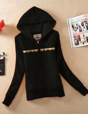 Áo khoác nữ caro màu đen- B2901