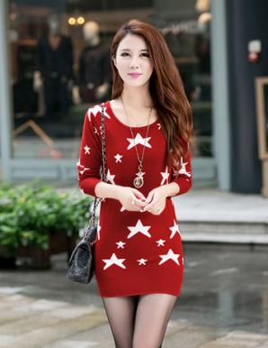 Áo len ngôi sao màu đỏ - B3239
