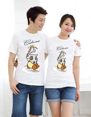 Áo thun cặp in hình pokemon CUBONE - B3304