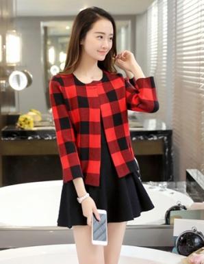 Áo khoác len phối sọc thời trang - B3517