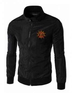 Áo khoác dù màu đen in logo - B3560