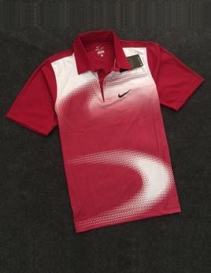 Áo thun thể thao cổ bẻ Nike màu đỏ - B3601