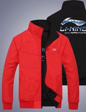 Áo khoác dù 2 mặt in logo Li-ning màu đỏ - B3713