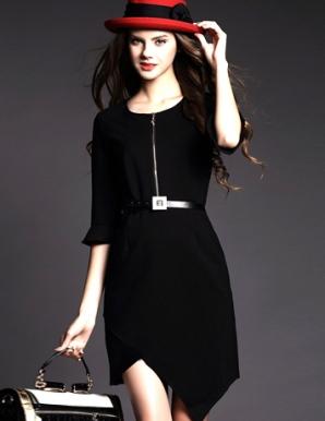 Đầm Suông Tay Lỡ Vạt Chéo - B3908