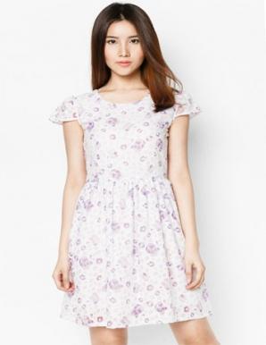 Đầm Kate Hoa - B3957
