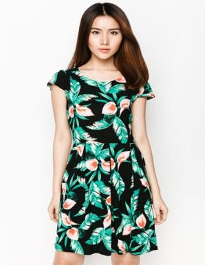 Đầm Cotton Hoa Dễ Thương - B3958