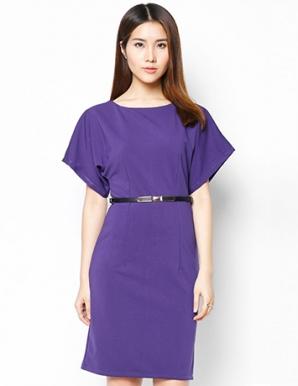 Đầm dạ tiệc tay cách điệu màu tím - B4025