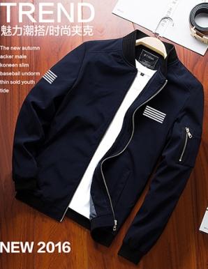 Áo khoác nam kaki màu xanh đen - B4679