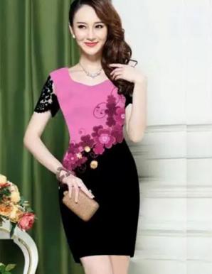 Đầm ôm 3d hoa nổi bật  - B4751