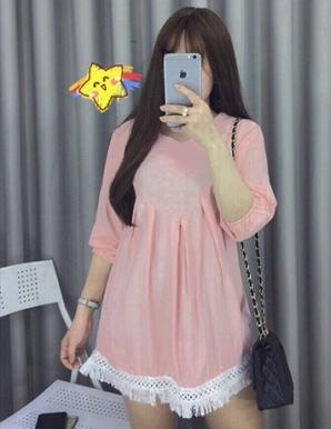 Set đầm baby doll hotgirl màu hồng - B4962
