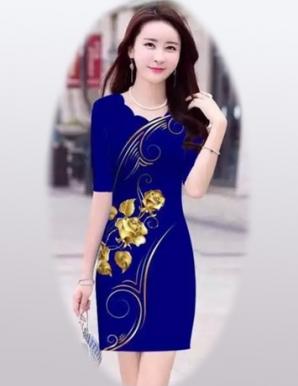 Đầm ôm 3D hoa nổi bật - B4982