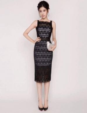 Đầm ren ôm dự tiệc màu đen - B5023