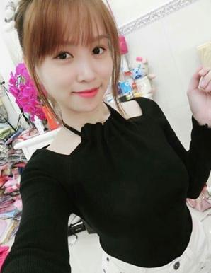 Áo len cổ yếm màu đen hotgirl - B5027
