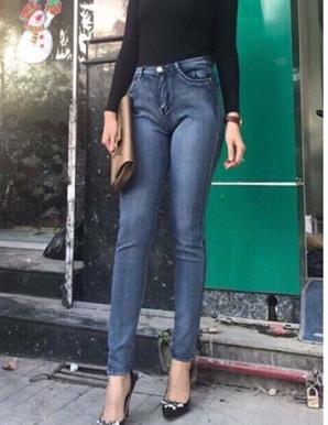 Quần jean tối giản hotgirl- B5090