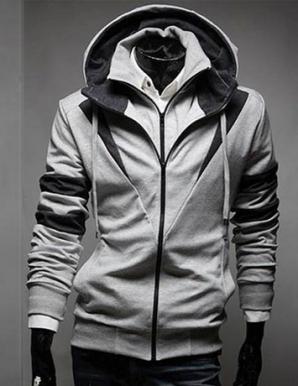 Áo khoác 2 dây kéo màu xám - B5160