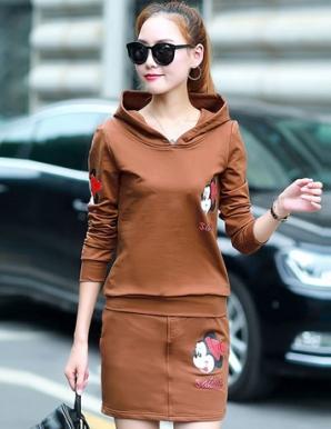 Set áo váy Mickey màu nâu - B5186