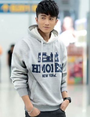 Áo khoác nam hoodie NewYork màu xám - B5194