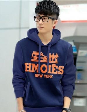 Áo khoác nam hoodie NewYork màu xanh đen - B5195