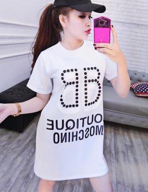 Đầm suông in chữ cá tính hotgirl - B5445