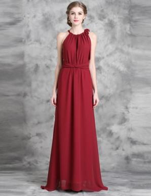 Đầm maxi cổ yếm thắt nơ màu đỏ - B5539