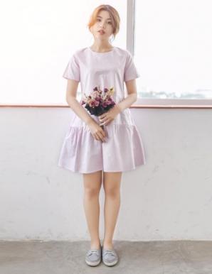 Đầm xòe baby doll màu hồng pastel - B5970