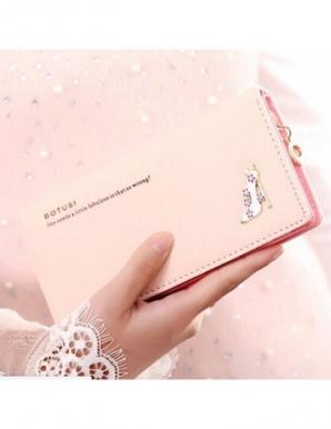Ví cầm tay giày thủy tinh màu hồng nhạt- B6160