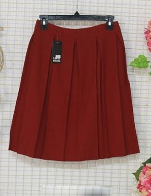 Chân váy xòe  xếp ly màu Đỏ-B6797