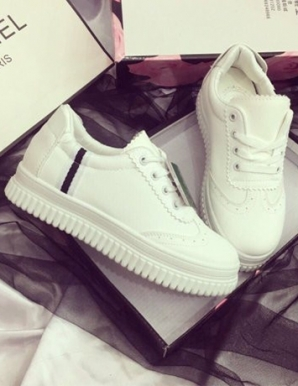 Giày bata siêu phẩm trắng phối 1 sọc -B6894