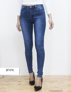 Quần jean thun trơn màu xanh- B7476