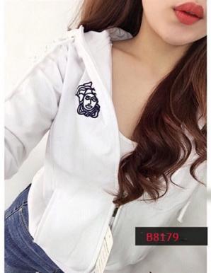 Áo khoác nữ thun da cá thêu logo- B8179