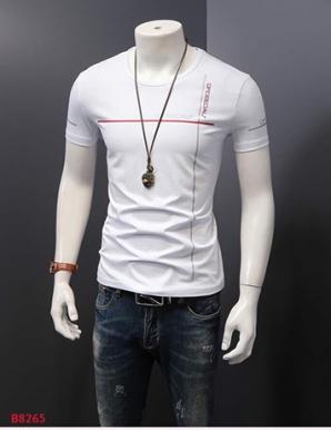 Áo thun nam body cổ tròn in cá tính- B8265