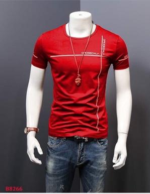 Áo thun nam body cổ tròn in cá tính- B8266