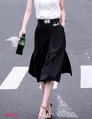 Chân váy xẻ 2 bên cách điệu - B8389
